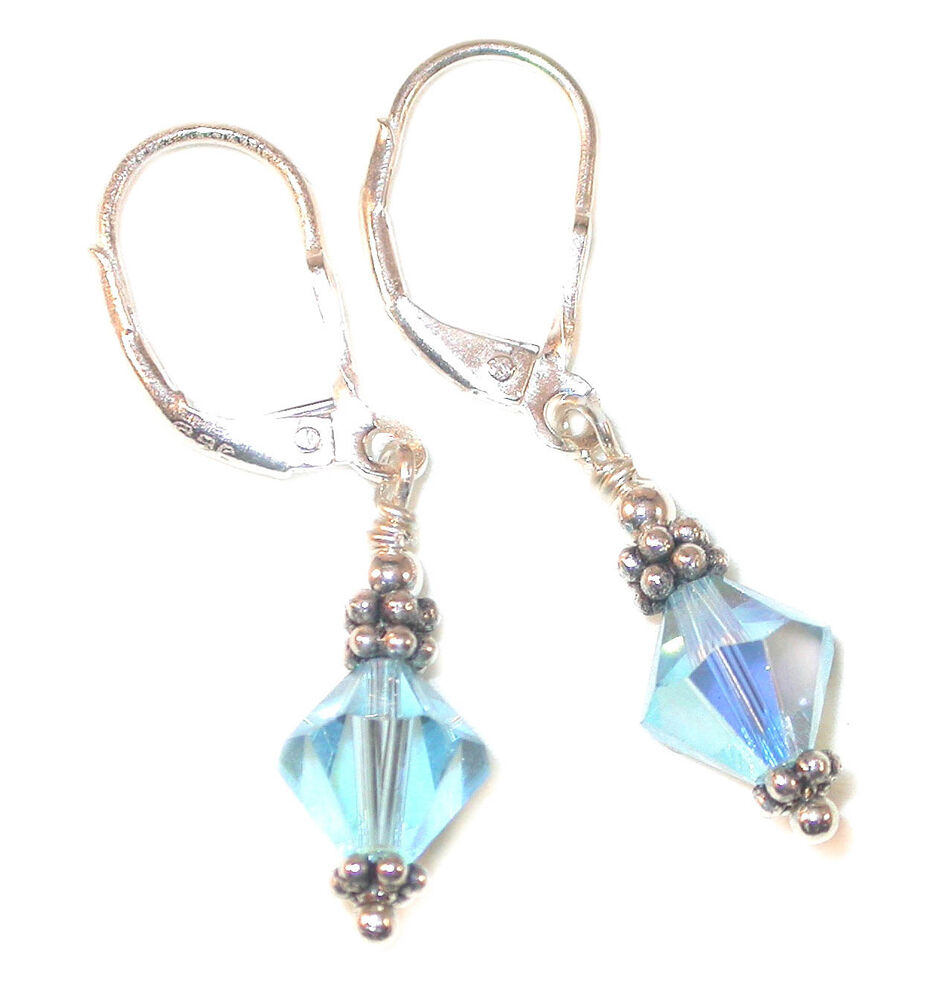 aquamarine earrings sterling silver march