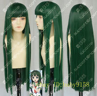 Hot Sell!  Long Dark Green Straight  Cosplay Party Wig      N.0160