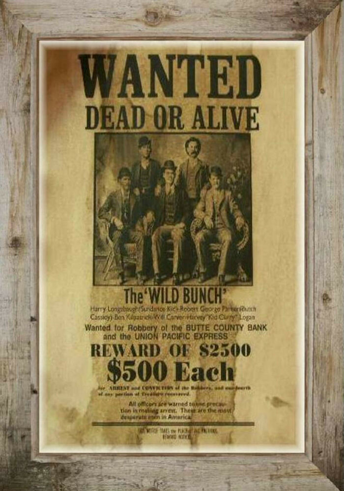 Magnet Vintage Old West Wanted Dead Or Alive Poster Wild