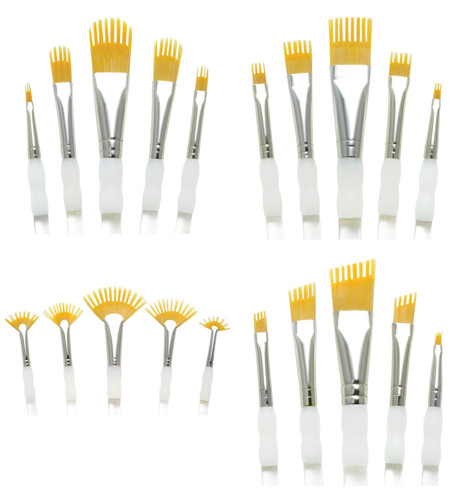 Royal aqualon wisp comb brushes artists watercolour for Types of acrylic paint