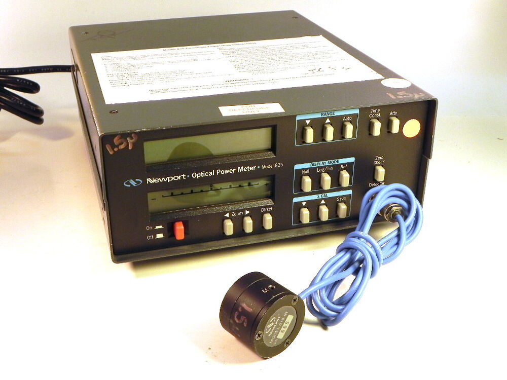 Optical Ports For Meters : Newport optical power meter nm w matching