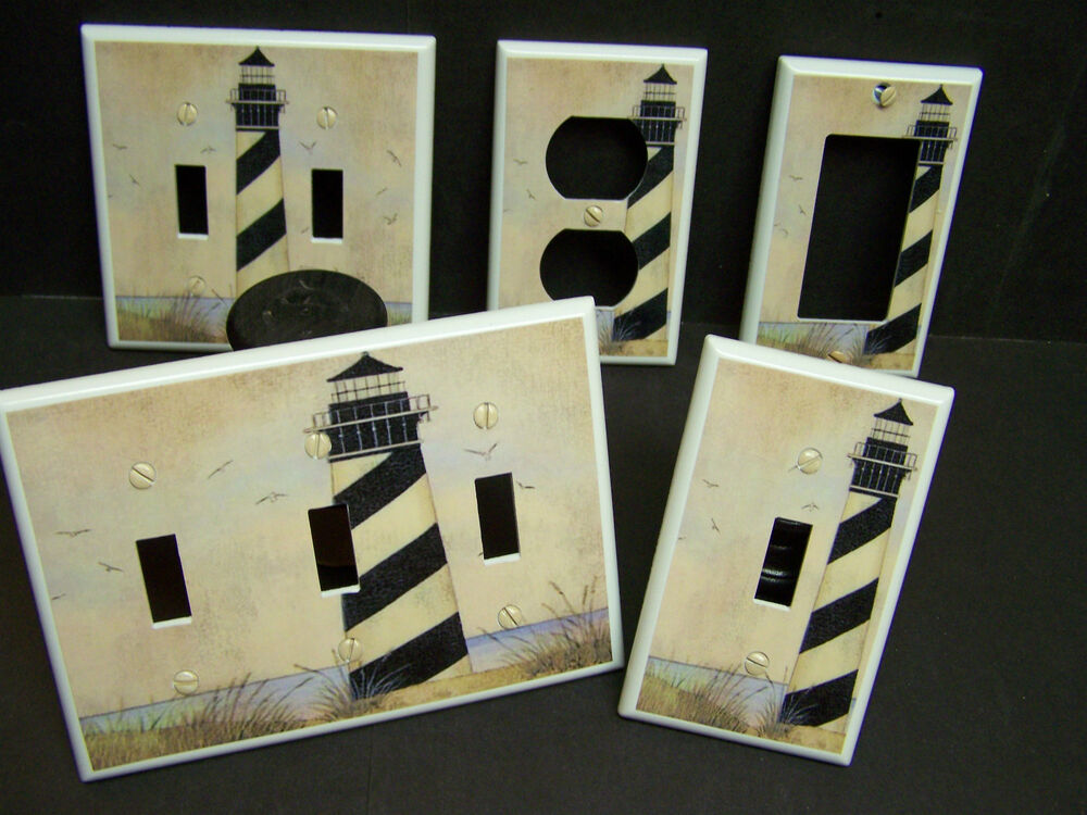 Nautical lighthouse b w 20 shades of tan light switch for Outlet b b