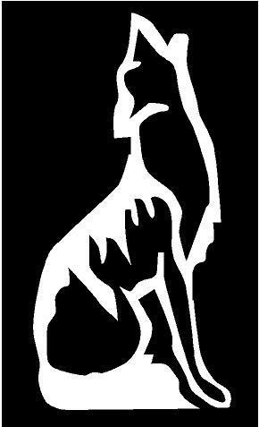 White Vinyl Decal Coyote Wolf Howling Wolves Howl