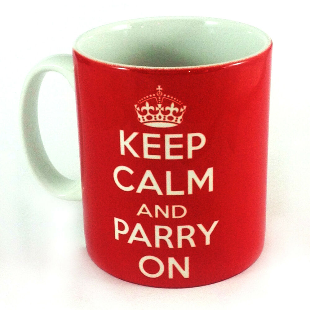 New Keep Calm And Parry On Gift Mug Fencing Sport Present