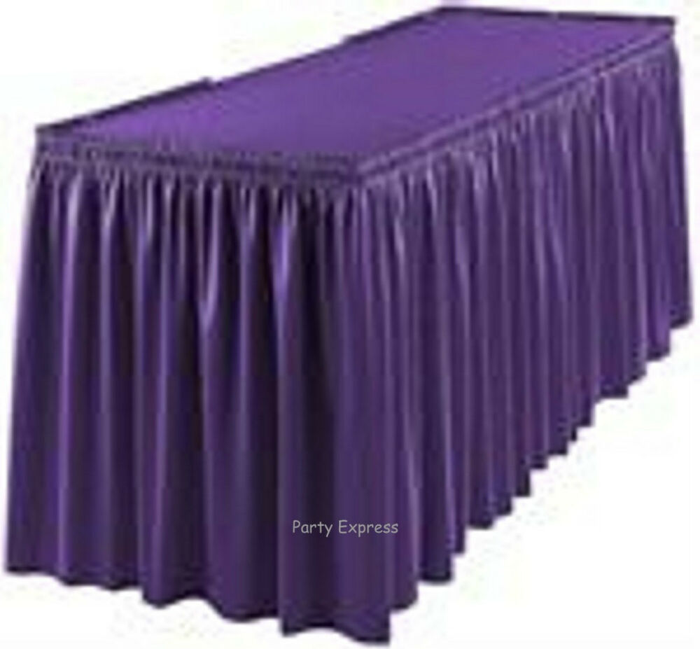 Tableskirt Tablecover 20 Colours Plastic Party Table