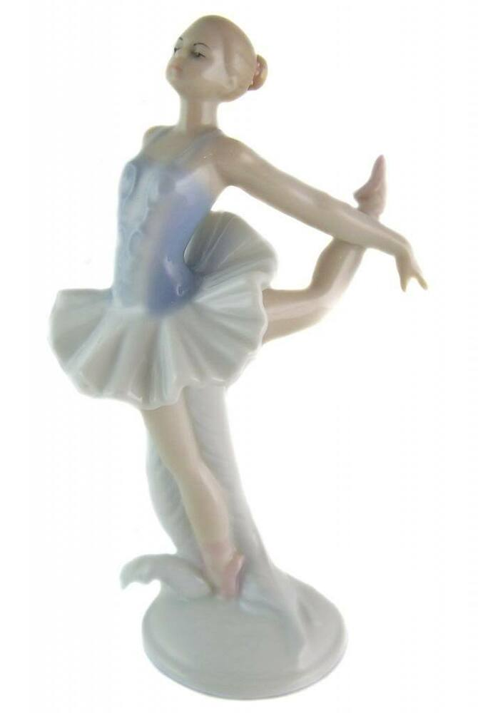 Fine porcelain ballerina figurine statue home decor Eba home interior figurines