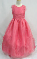 Girl Pageant Bridesmaid Evening ball Flower girl Formal Dress size 4 6 12 Pink
