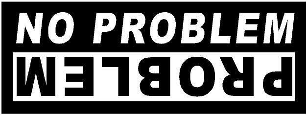 White Vinyl Decal Problem No Problem Jeep Roll Mud Fun