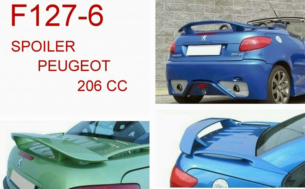 spoiler alettone peugeot 206 cc con primer f127 6p si127 6 5 ebay. Black Bedroom Furniture Sets. Home Design Ideas