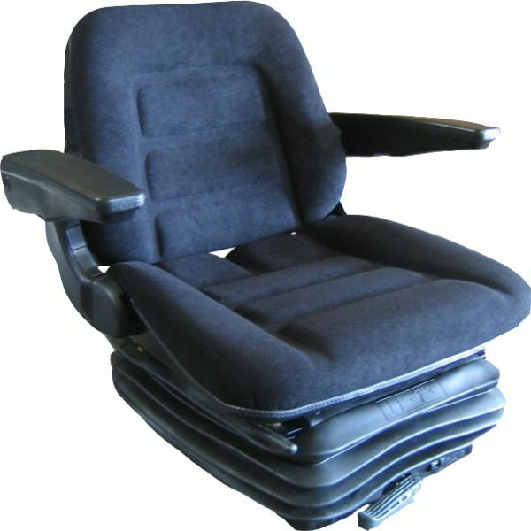 Tractor Seat Suspension Parts : Deluxe tractor suspension seat fabric armrests grammer