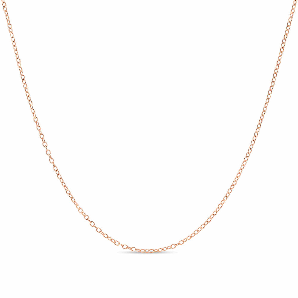 14k Gold Over Sterling Silver 1 3mm Cable Chain Necklace
