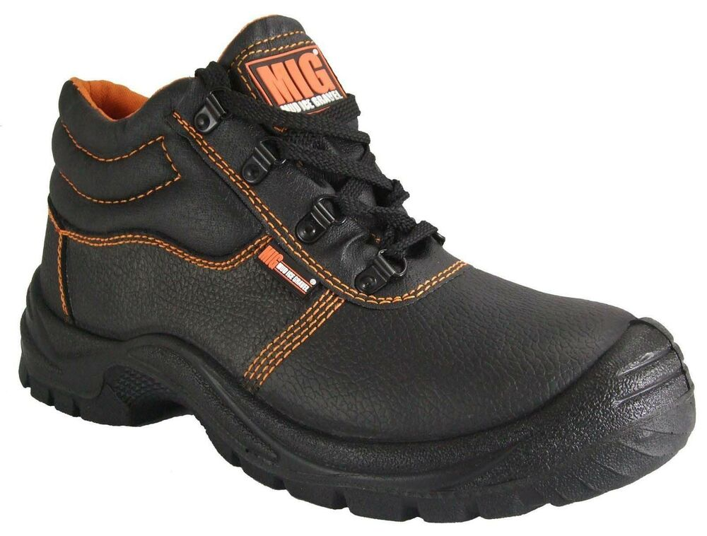 Mens Steel Toe Cap Leather Safety Boots Size 6 To 13 Uk