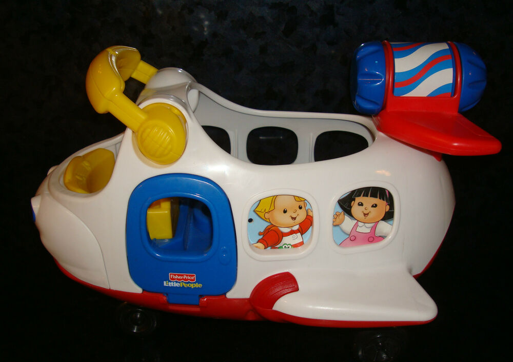 FISHER PRICE Toy LITTLE PEOPLE PLANE Electronic SOUNDS LIL Mover Jet Engine FP | eBay