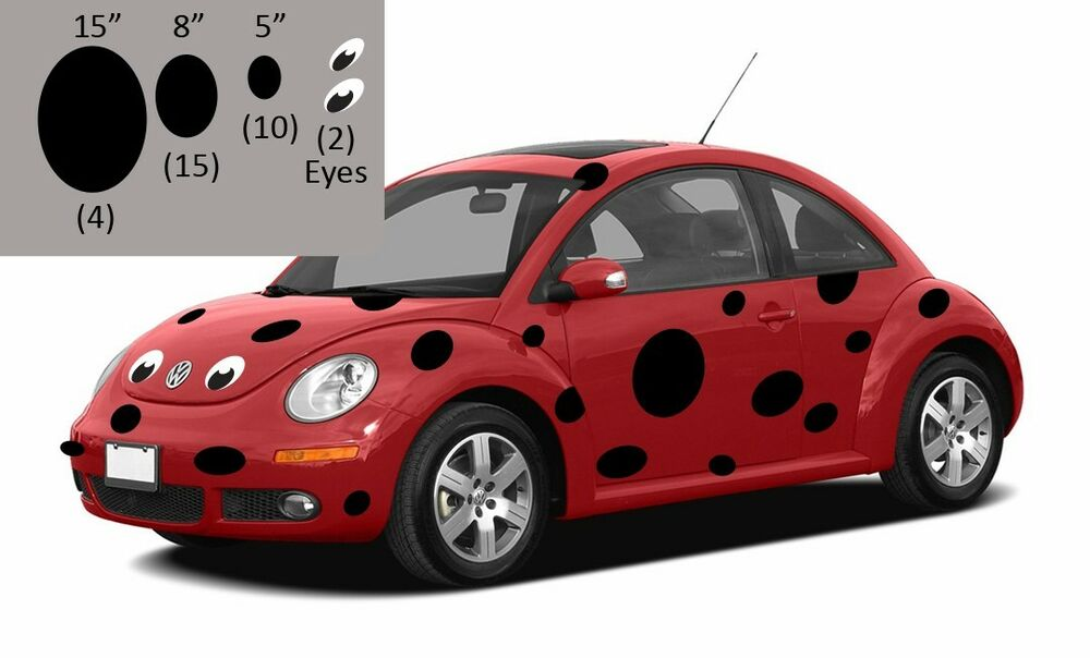 Punch Buggy Volkswagen >> Volkswagen Bug Beetle Ladybug, Ladybug decals for VW Bug Beetle, VW Bug decals | eBay