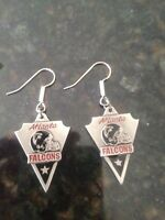 Pewter Atlanta Falcon Charm Earrings