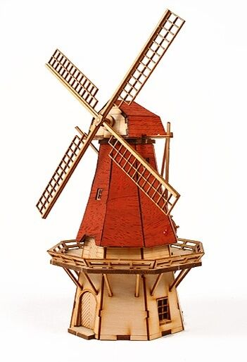 Toy Models Product : Netherlands windmill wooden model kit ebay