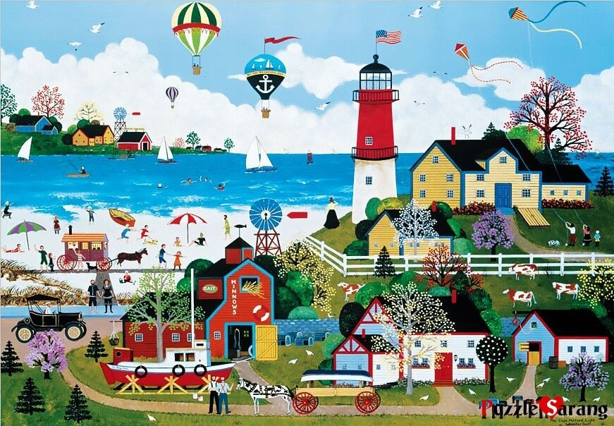 """Jigsaw Puzzles 1000 Pieces """"Milford Lighthouse"""" / Jane Wooster Scott  eBay"""