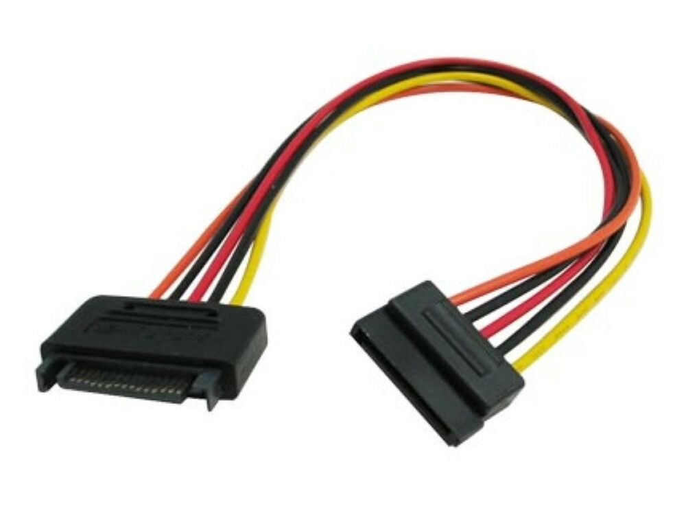 Power Extension Cable : Okgear sata power extension cable ebay