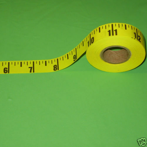 12 rolls table sticky measuring adhesive tape ruler plastic read in inch or cm ebay. Black Bedroom Furniture Sets. Home Design Ideas