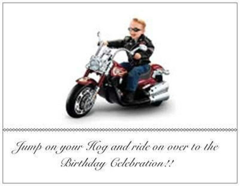 20 Birthday Motorcycle INVITATIONS Post Cards Harley Davidson Kid – Harley Davidson Birthday Cards