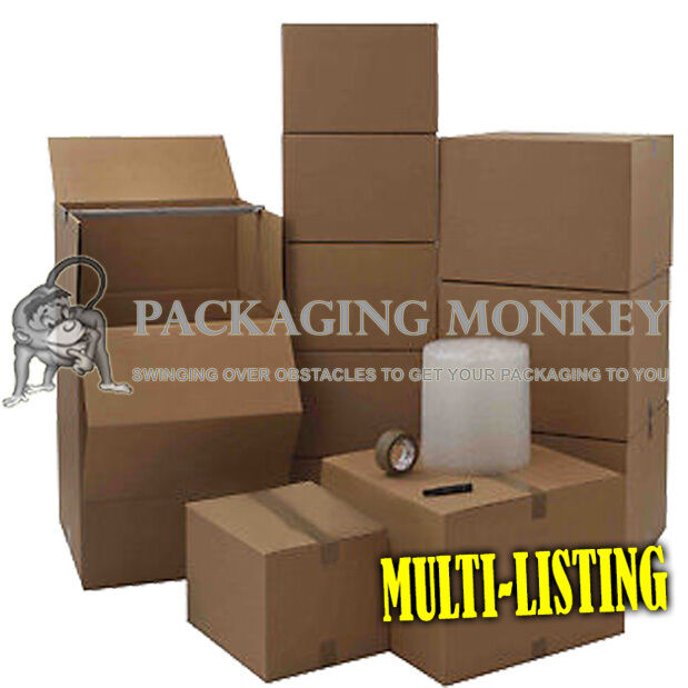 cardboard box removal packing moving kits all sizes ebay. Black Bedroom Furniture Sets. Home Design Ideas