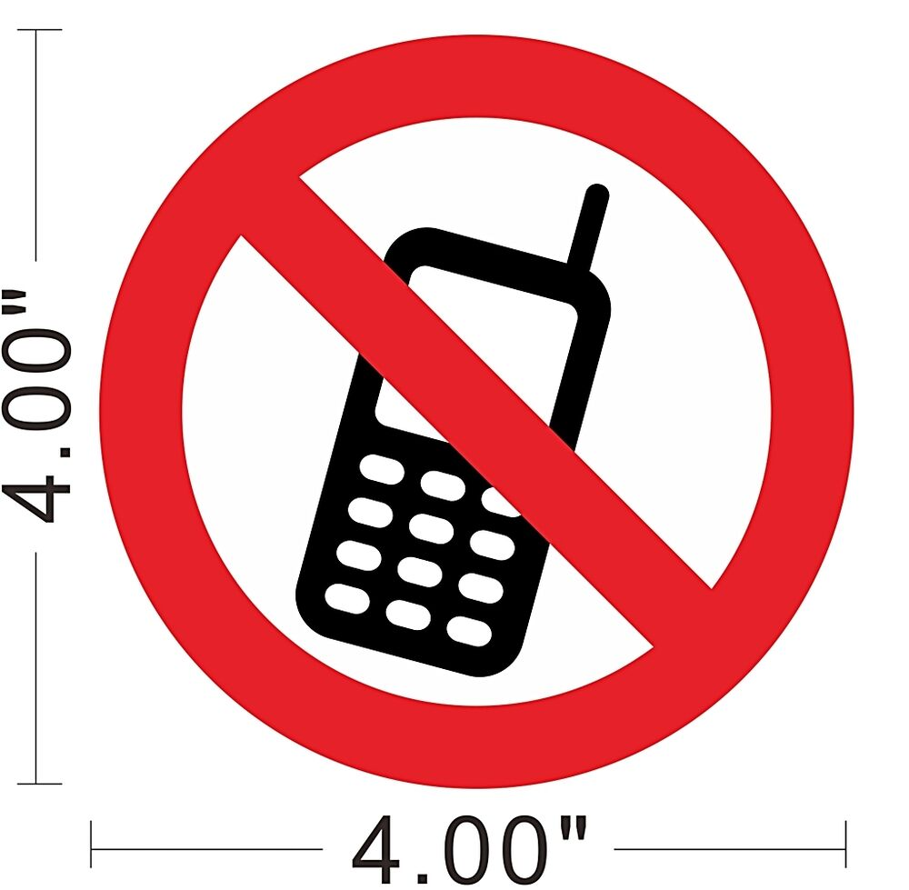 No cell phone no mobile phone decal vinyl sticker warning - Stickers protection cuisine ...