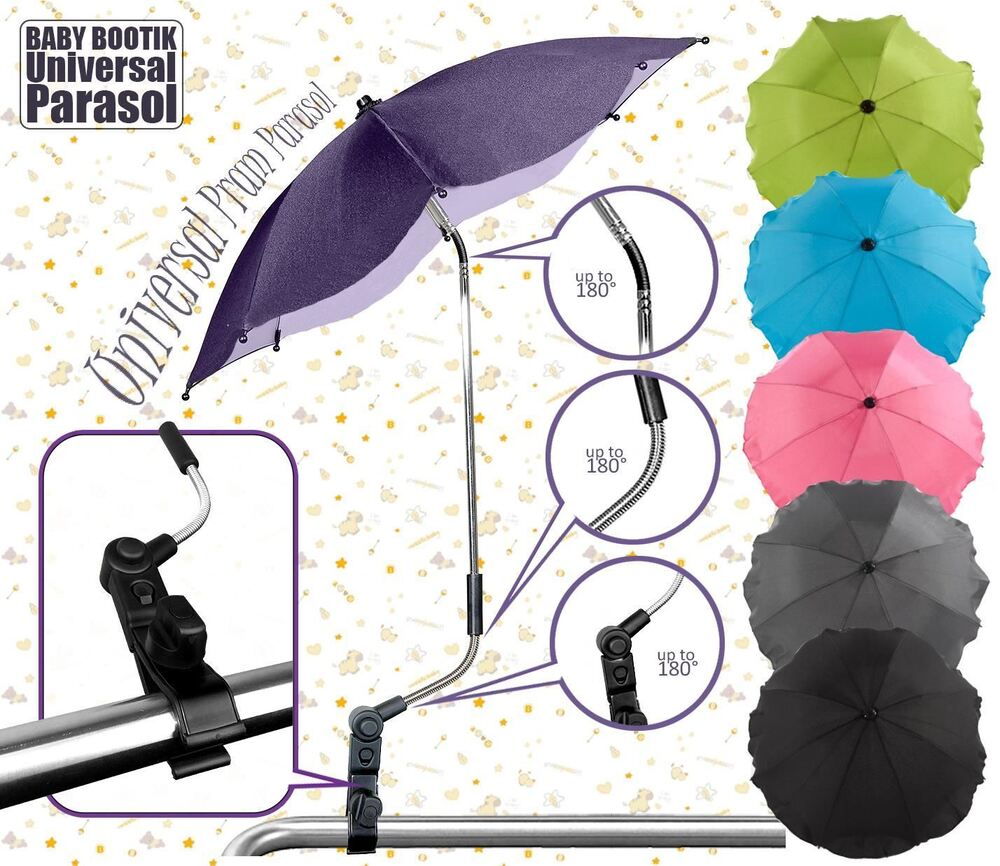 universal sun rain parasol umbrella baby pram pushchair canopy at babybootik ebay. Black Bedroom Furniture Sets. Home Design Ideas