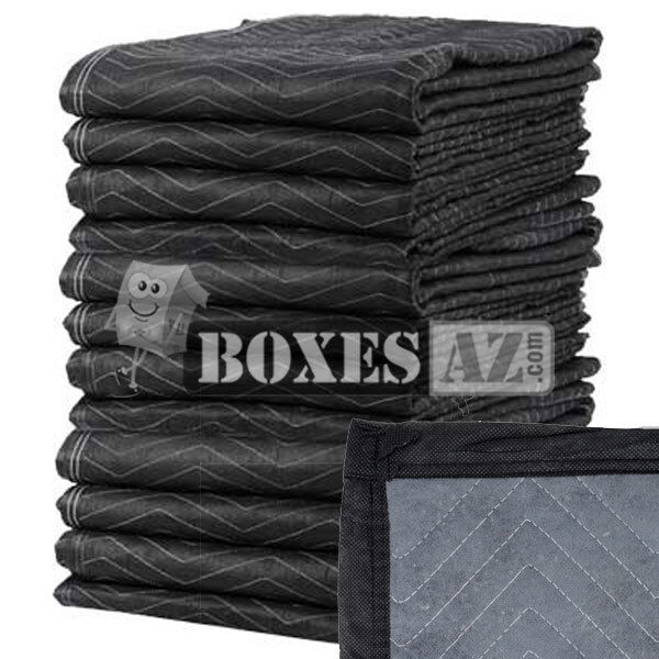 Moving blankets 12 pack 72x80 45lbs professional for Furniture moving pads
