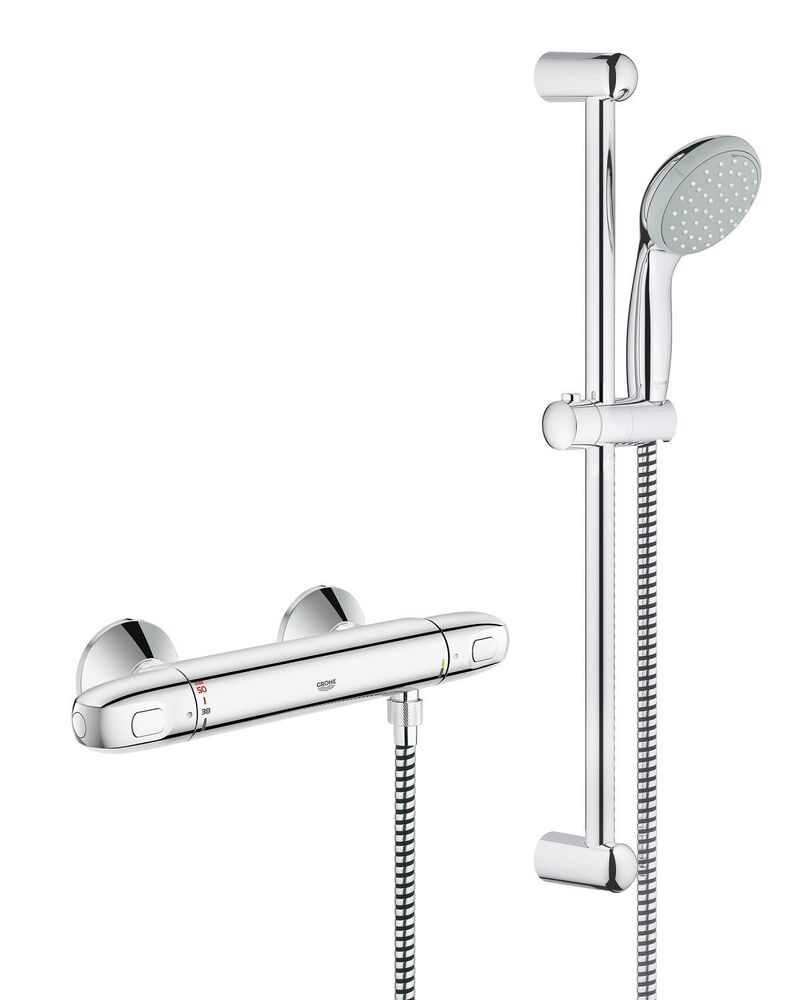 grohe new g1000 thermostatic shower mixer bar valve grohtherm 1000