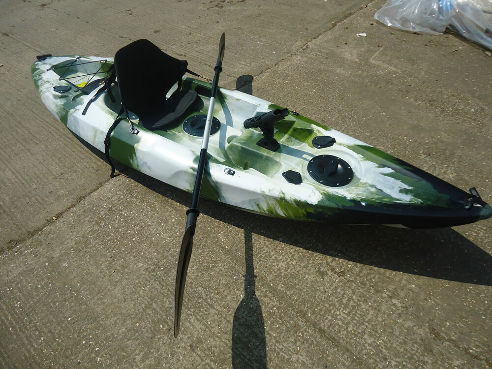 Sit on top 5 rod blaze fishing kayak canoe galaxy model ebay for Best sit on top fishing kayak