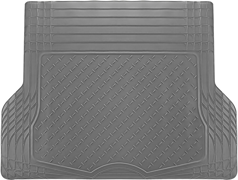 Trunk Cargo Floor Mats For Cars All Weather Rubber Grey