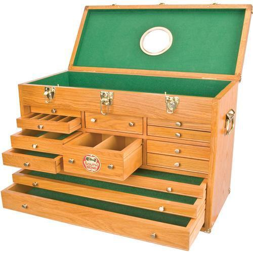 SOUTH BEND WOODEN MACHINIST TOOL CHEST WOOD BOX CABINET ...