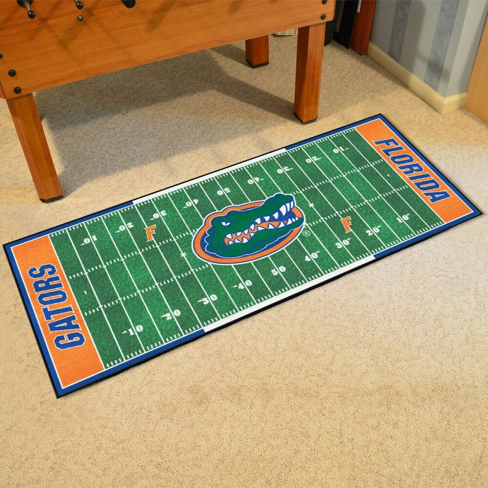 "Florida Gators 30"" X 72"" Football Field Runner Area Rug"