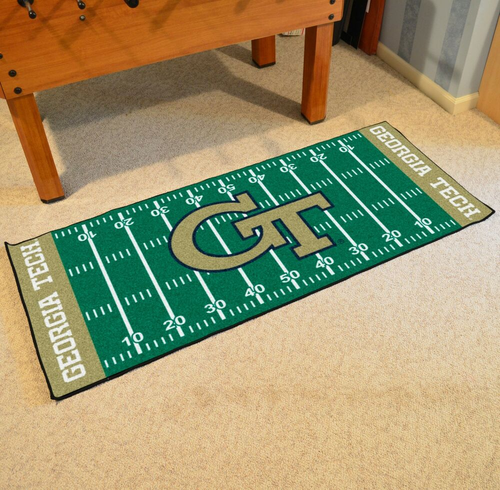 "Georgia Tech Yellow Jackets 30"" X 72"" Football Field"