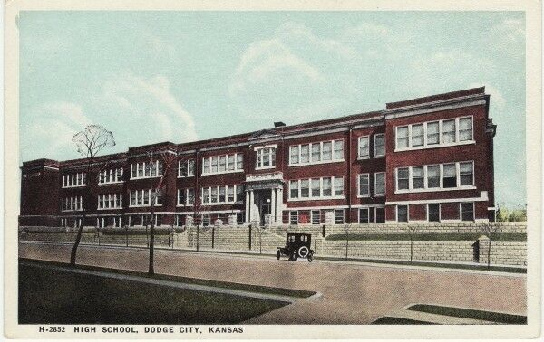 antique postcard high school dodge city ks kansas unused ebay. Cars Review. Best American Auto & Cars Review