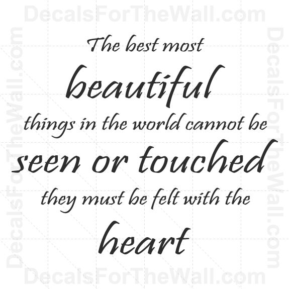 The Best Most Beautiful Things In The World Wall Decal