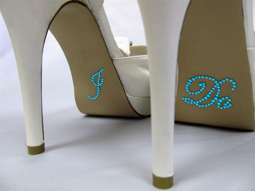 I DO Diamante Rhinestone Wedding Shoe Applique Sticker