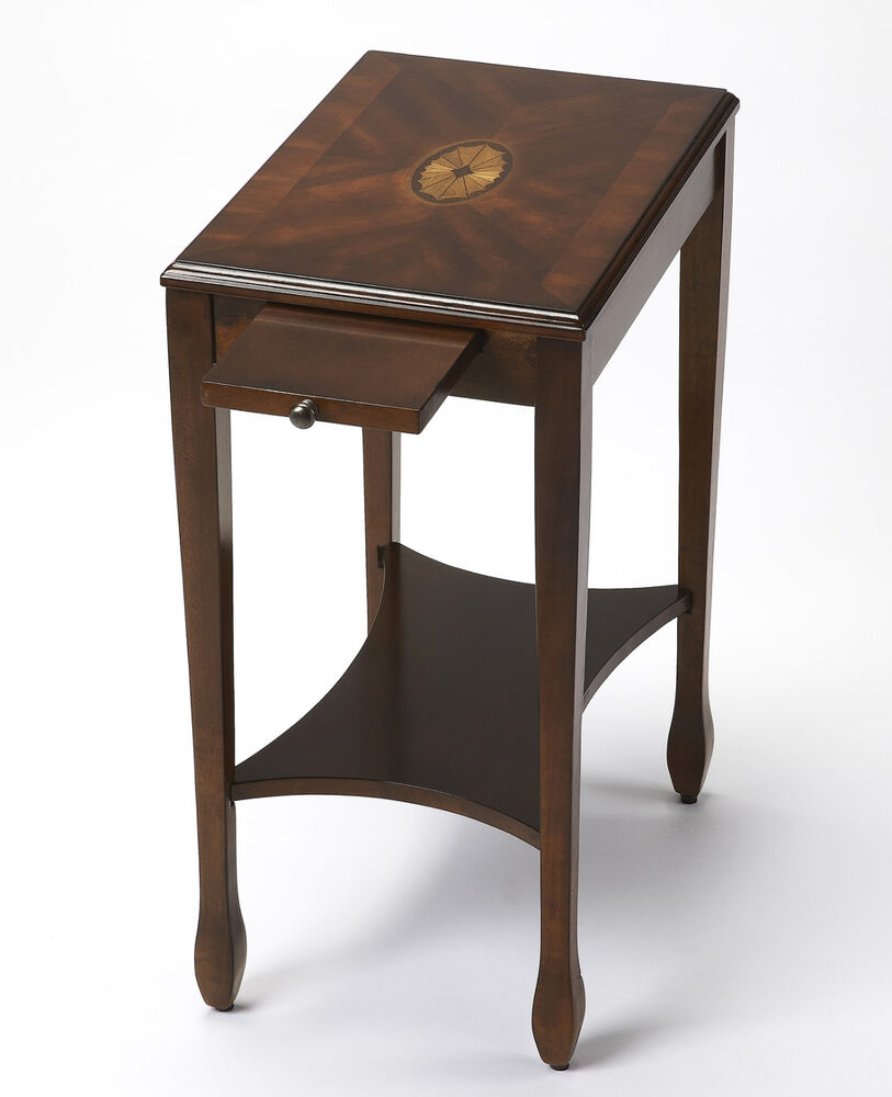Cherry Side Table ~ Bryn mawr inlaid side table end cherry finish