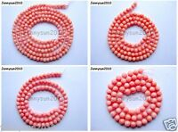 Pink Natural Coral Gemstone Round Spacer Beads 16'' 2mm 3mm 4mm 5mm 6mm 7mm 8mm