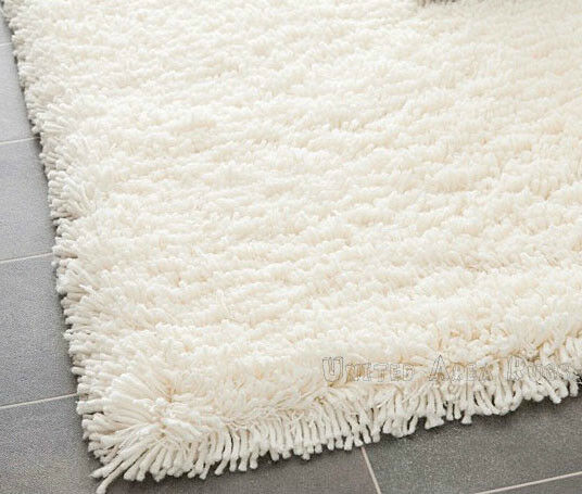 3x5 area rug shaggy shag white 2 inch plus thick heavy for Thick area rugs sale