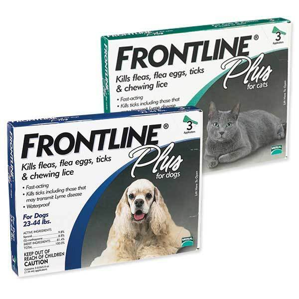 Frontline Plus 3 Or 6 Month Flea And Tick Control For Dogs