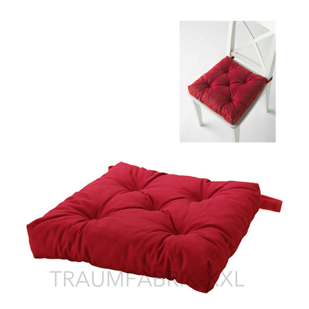 ikea sitzkissen stuhlkissen softkissen kissen 40x40 cm 7cm dick neu rot red ebay. Black Bedroom Furniture Sets. Home Design Ideas