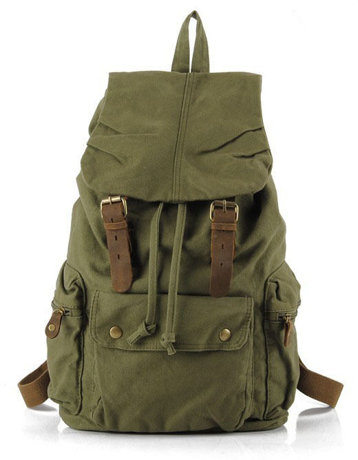 New Korea Mens Womens Vintage Style Canvas Backpack Bag