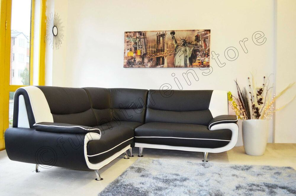 Faux leather corner sofa sofa passero corner sofas setttee for Corner sofa bed uk sale