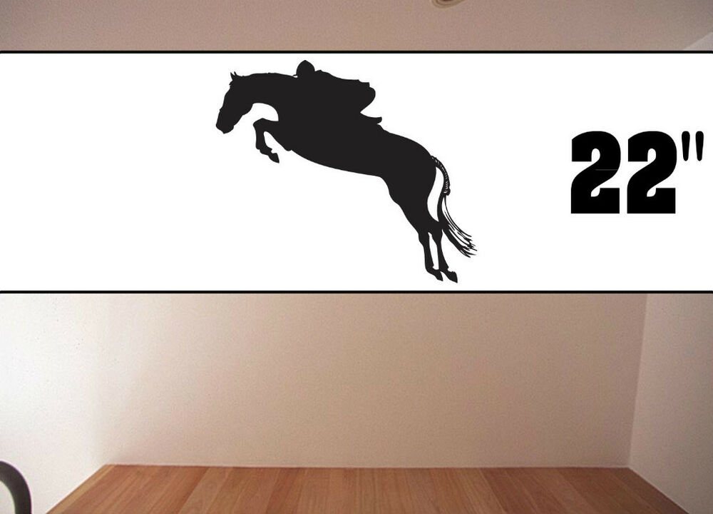 Equestrian Stickers Decal Art Room Decor Silhouettes