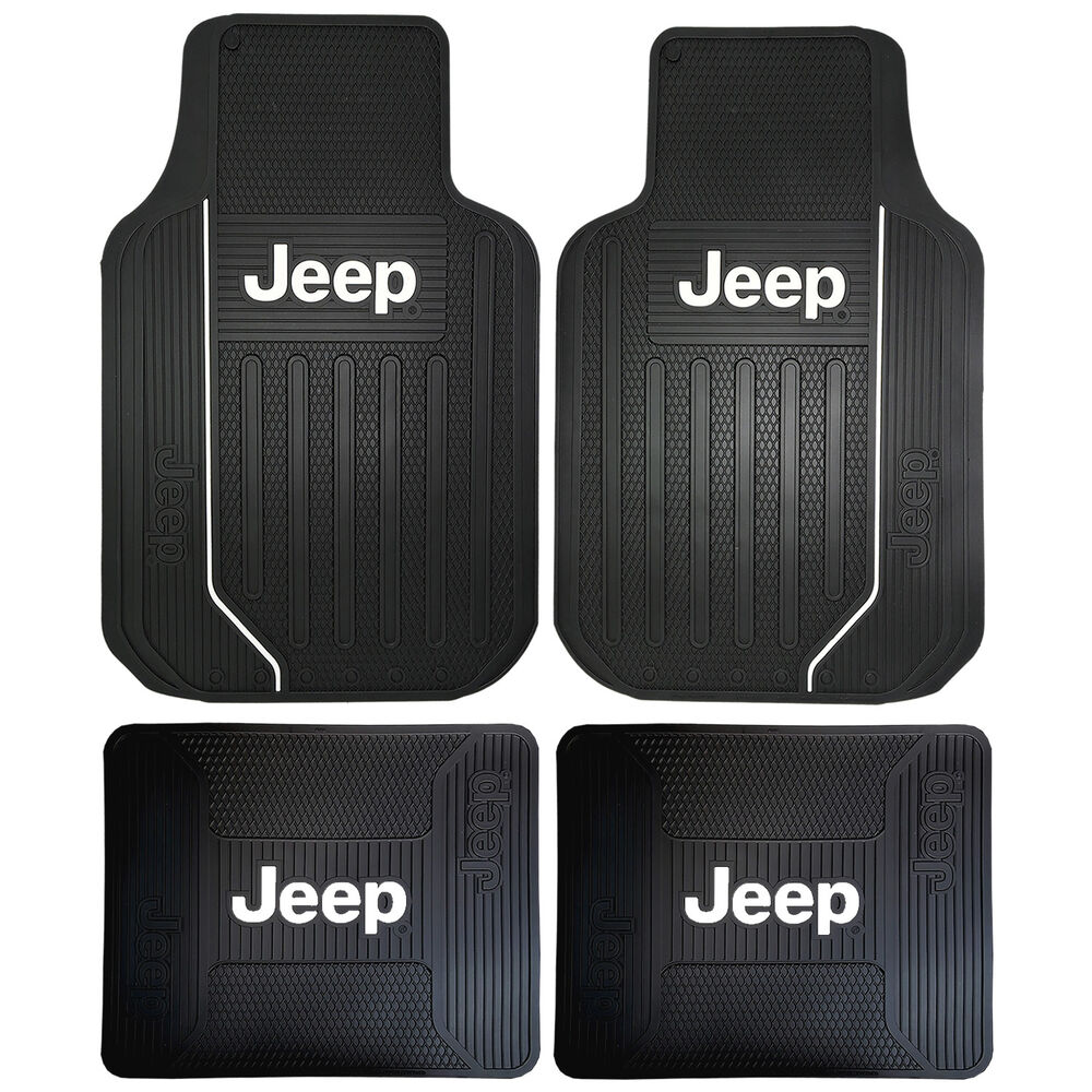 Jeep Mopar Elite Front Amp Rear Rubber Floor Mats For Trucks