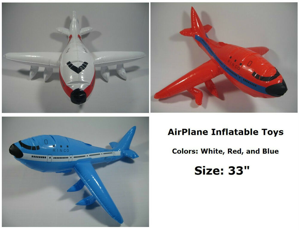 Airplane Jumbo Jet Flying Inflatable Toys Blow Up Party