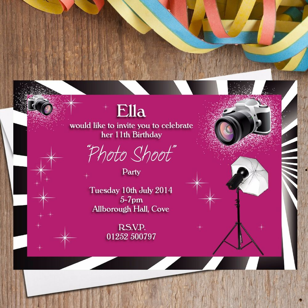 10 Personalised Girls Photo Shoot Birthday Party