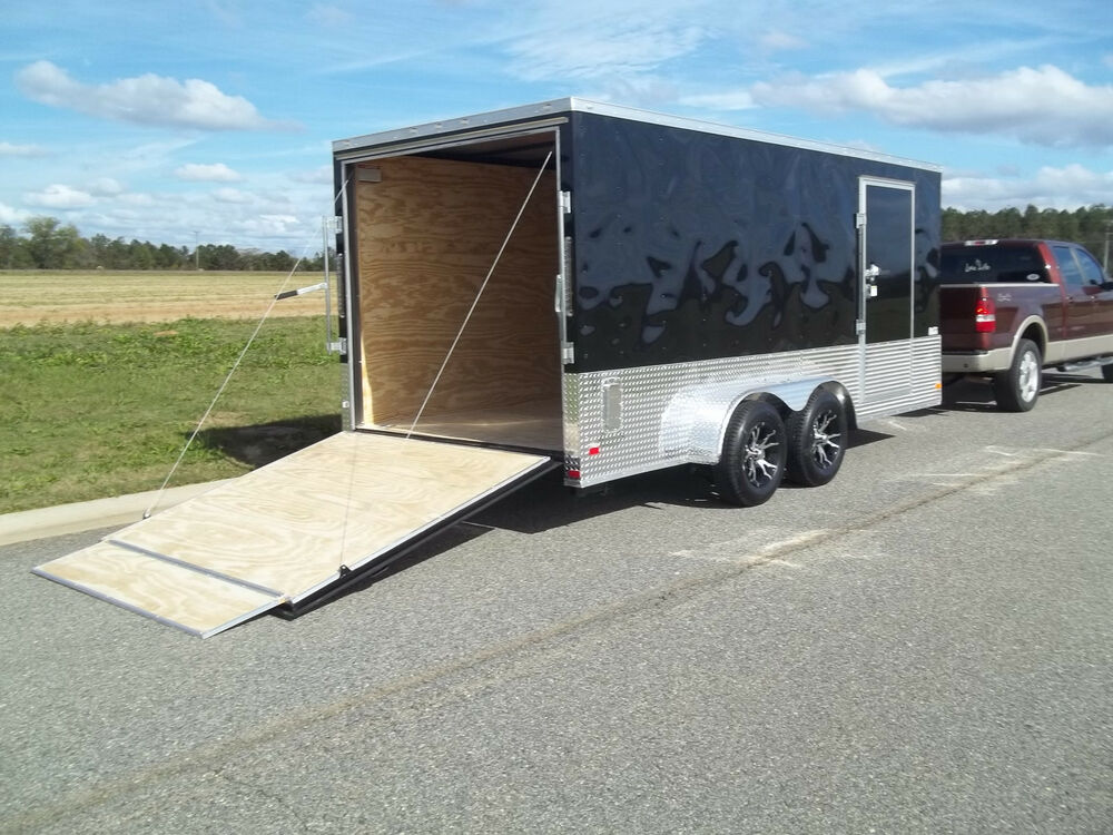 7x16 Double Motorcycle Enclosed Trailer Cargo ATP Sport