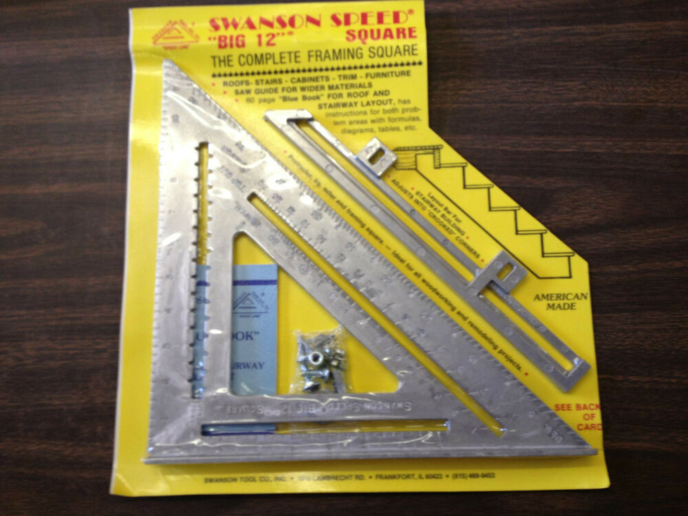 swanson tool 00107 big 12 the complete framing square made in usa ebay